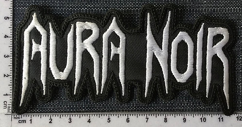 AURA NOIR - LOGO SHAPED EMBROIDERED PATCH