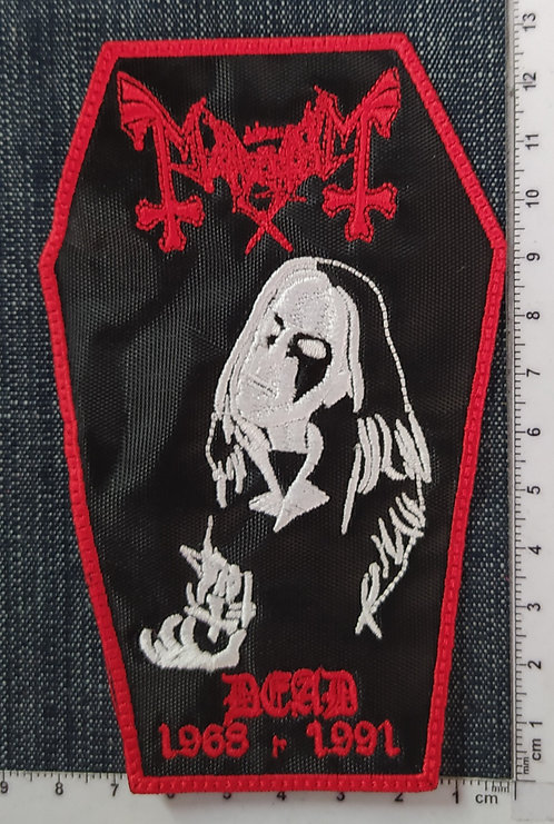 MAYHEM - DEAD EMBROIDERED PATCH
