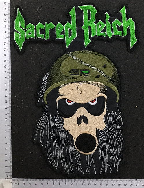 SACRED REICH - SOLDIER EMBROIDERED BACK PATCH