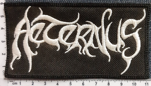 AETERNUS - WHITE LOGO Patch