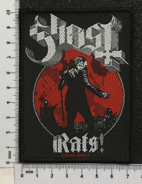 GHOST - RATS! WOVEN PATCH