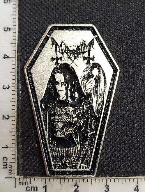 MAYHEM - COFFIN Metal Pin