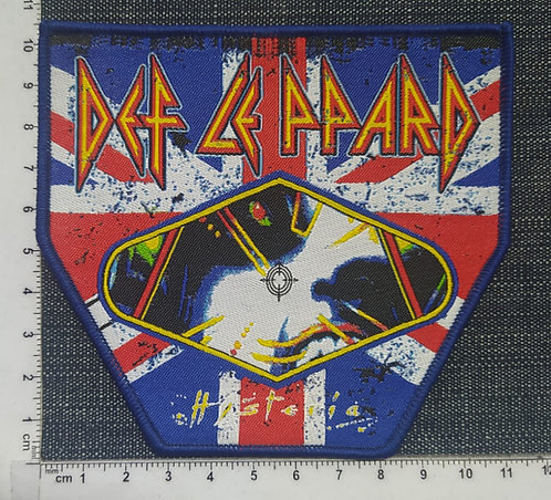 DEF LEPPARD - HYSTERIA FLAG WOVEN PATCH