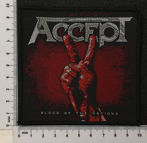 ACCEPT - BLOOD OF THE NATIONS WOVEN PATCH