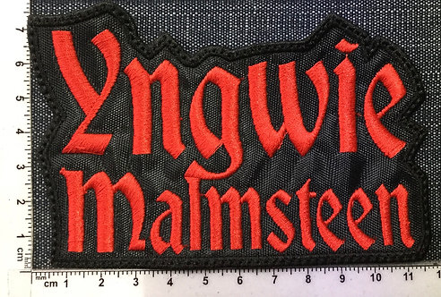 YNGWIE MALMSTEEN - LOGO EMBROIDERED PATCH