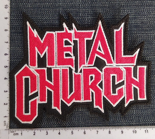 METAL CHURCH - LOGO EMBROIDERED PATCH