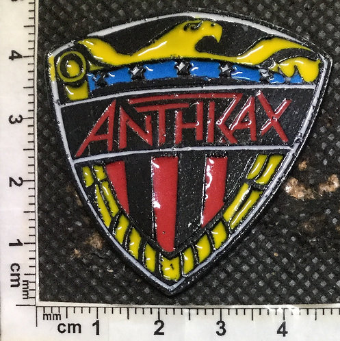 ANTHRAX SHIELD COLOURED Metal Pin