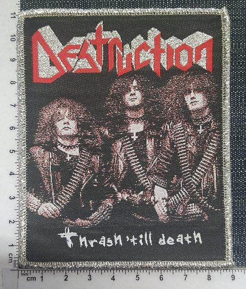 DESTRUCTION - THRASH TILL DEATH WOVEN PATCH