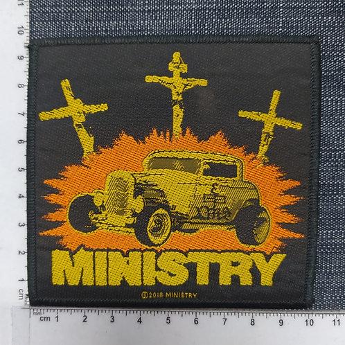 MINISTRY - JESUS BUILD MY HOTROD WOVEN PATCH