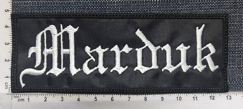 MARDUK - RECTANGLE LOGO EMBROIDERED PATCH