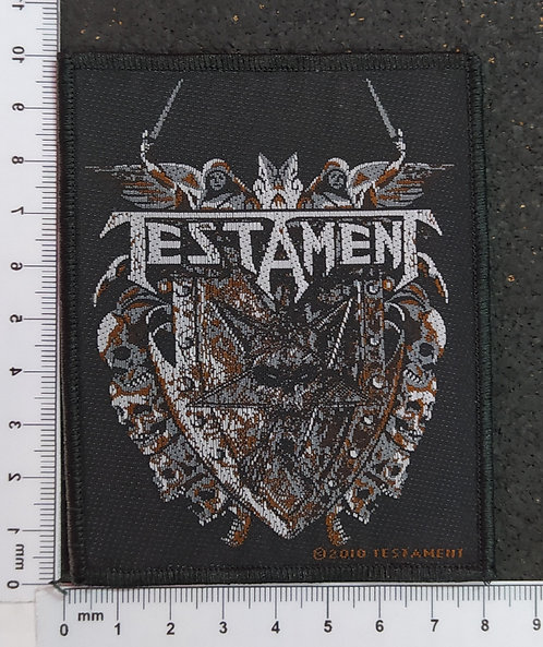 TESTAMENT - SHIELD WOVEN PATCH