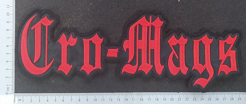 CRO-MAGS - SHAPE LOGO EMBROIDERED BACK PATCH