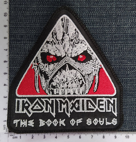 IRON MAIDEN - TRIANGLE THE BOOK OF SOULS EMBROIDERED PATCH