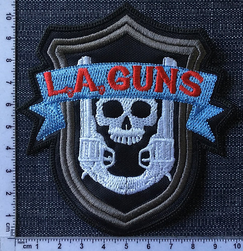 L. A. GUNS - LOGO EMBROIDERED PATCH