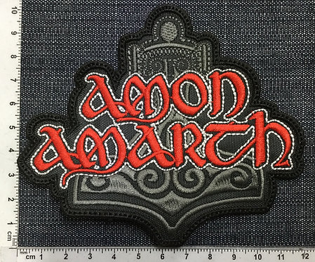 AMON AMARTH - THOR'S HAMMER EMBROIDERED PATCH