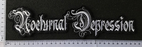 NOCTURNAL DEPRESSION - EMBROIDERED BACK PATCH