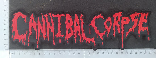 CANNIBAL CORPSE - NAME LOGO EMBROIDERED BACK PATCH