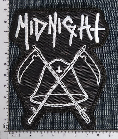 MIDNIGHT - BELL SHAPE EMBROIDERED PATCH