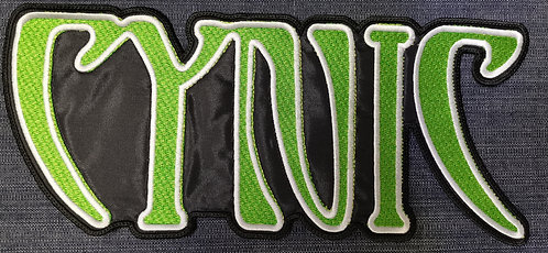 CYNIC - Logo shaped BACK PATCH