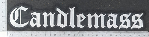 CANDLEMASS - NAME LOGO EMBROIDERED BACK PATCH