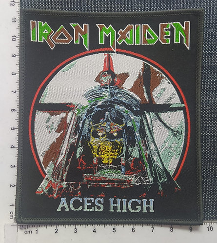 IRON MAIDEN - ACES HIGH WOVEN PATCHE