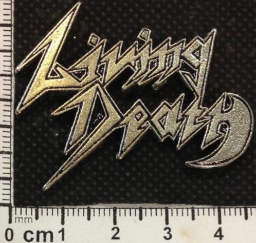 LIVING DEATH  - LOGO  Metal Pin