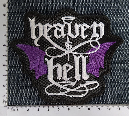 HEAVEN & HELL- LOGO WINGS EMBROIDERED PATCH