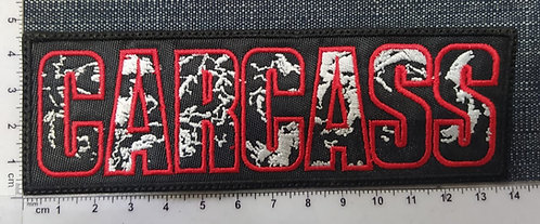 CARCASS - LOGO RECTANGLE EMBROIDERED PATCH