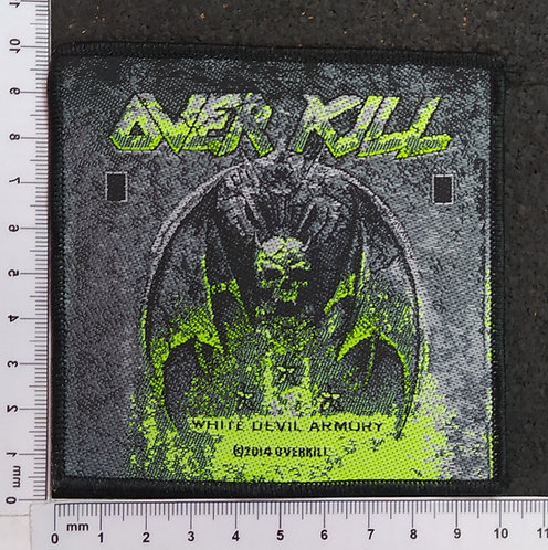 OVERKILL - WHITE DEVIL ARMORY WOVEN PATCH