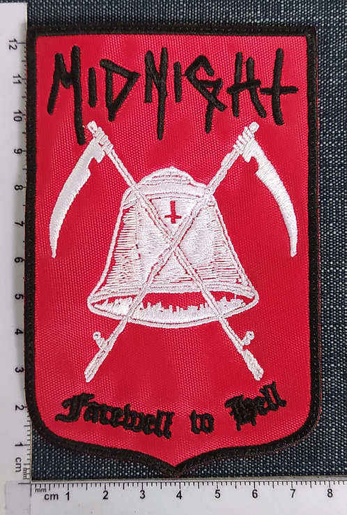 MIDNIGHT - FAREWELL TO HELL SHIELD EMBROIDERED PATCH