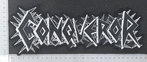 CONQUEROR - SHAPE LOGO EMBROIDERED BACK PATCH