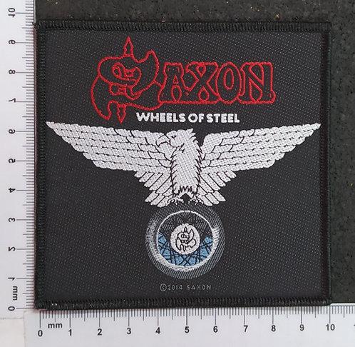 SAXON - WHEELS OF STEEL WOVEN PATCH