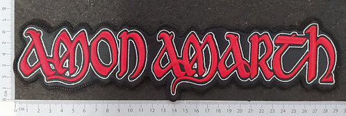 AMON AMARTH - STRIP LOGO EMBROIDERED BACK PATCH