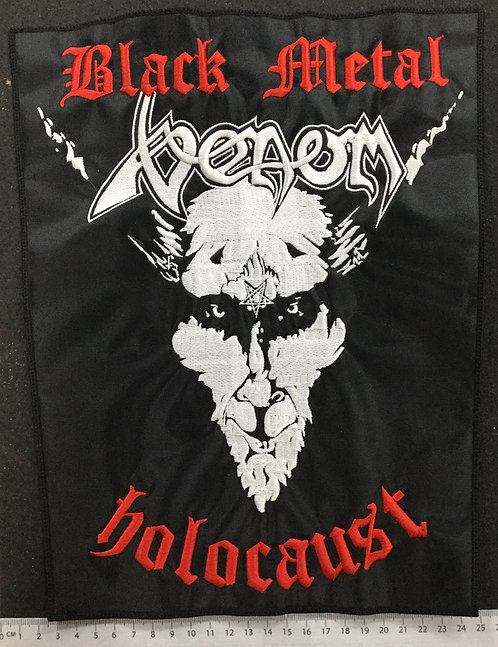 VENOM - BLACK METAL HOLOCAUST EMBROIDERED BACK PATCH