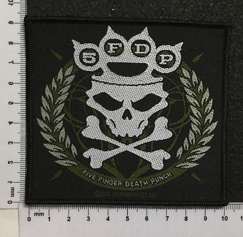 FIVE FINGERS DEATH PUNCH - KNUCKLES CROWN WOVEN PATCH