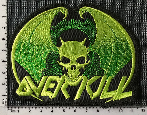 OVER KILL - LOGO BAT EMBROIDERED PATCH