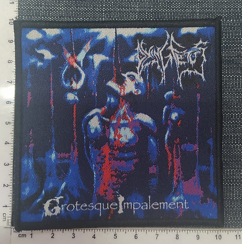 DYING FETUS - GROTESQUE IMPALEMENT WOVEN PATCH