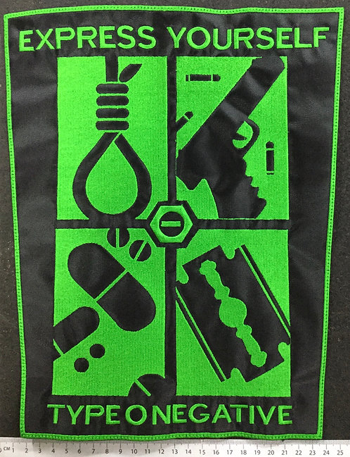 TYPE O NEGATIVE - EXPRESS YOURSELF EMBROIDERED BACK PATCH