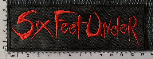 SIX FEET UNDER - LOGO EMBROIDERED PATCH