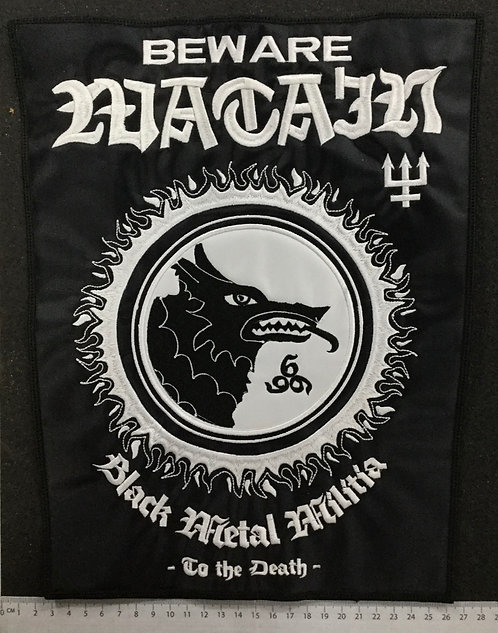 WATAIN - BLACK METAL MILITIA EMBROIDERED BACK PATCH