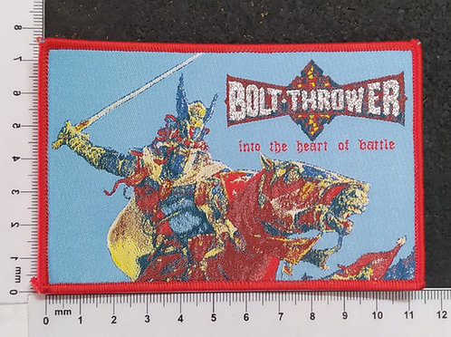 BOLT THROWER - INTO THE HEART OF BATTLE WOVEN PATCH