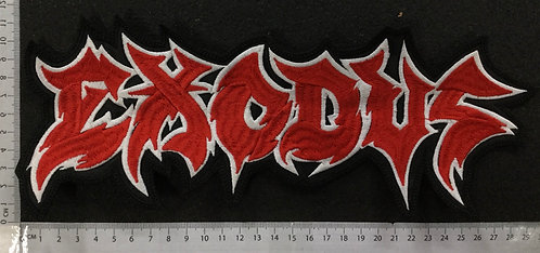 EXODUS - LOGO EMBROIDERED BACK PATCH