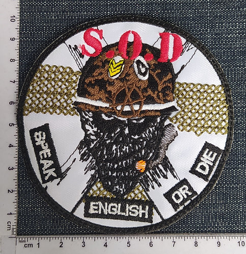 S.O.D. - CIRCLE EMBROIDERED PATCH