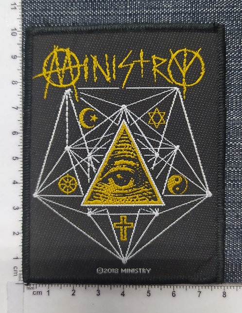 MINISTRY - ALL SEEING EYES WOVEN PATCH