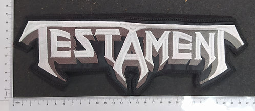 TESTAMENT - LOGO EMBROIDERED BACKPATCH