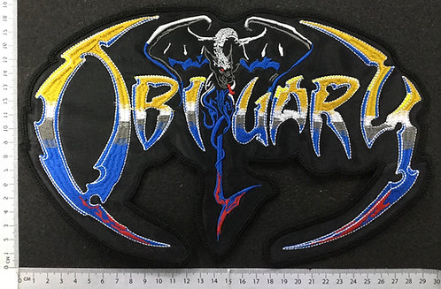 OBITUARY - END COMPLETE LOGO EMBROIDERED BACK PATCH