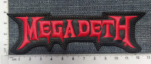 MEGADETH - SHAPED LOGO NO OUTLINE EMBROIDERED PATCH