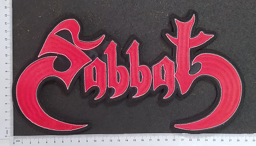 SABBAT - LOGO EMBROIDERED BACKPATCH