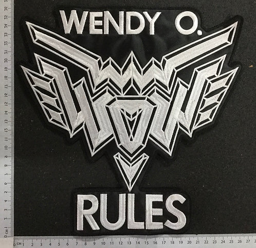 WENDY O. - RULES EMBROIDERED BACK PATCH