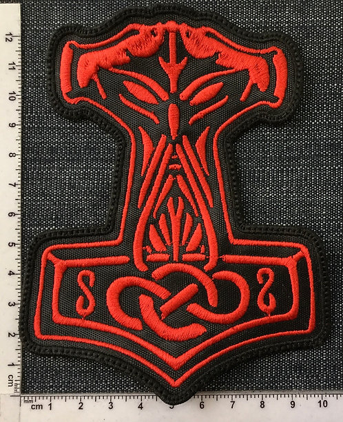 THOR'S HAMMER - LOGO EMBROIDERED PATCH